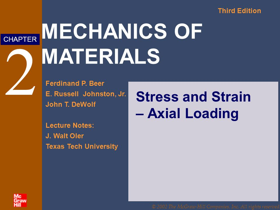 Stress and Strain – Axial Loading
