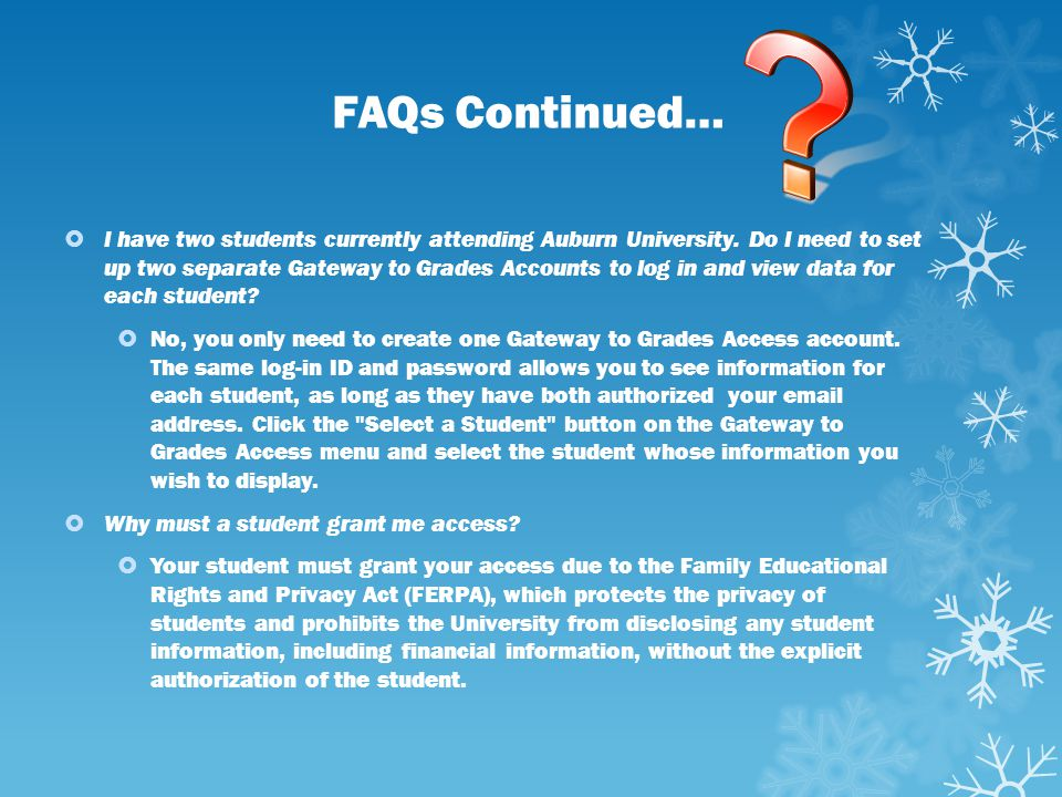 FAQs Continued…