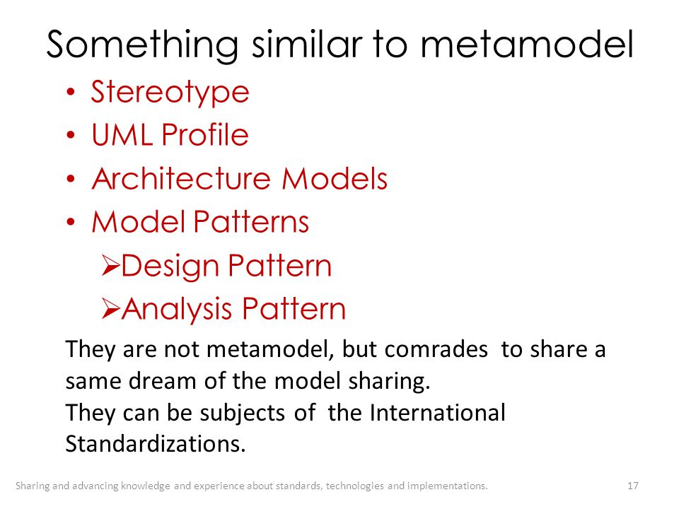 Something similar to metamodel