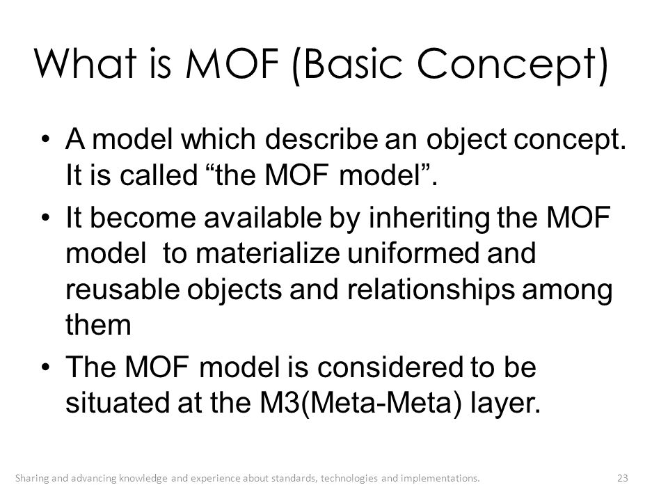 What is MOF (Basic Concept)