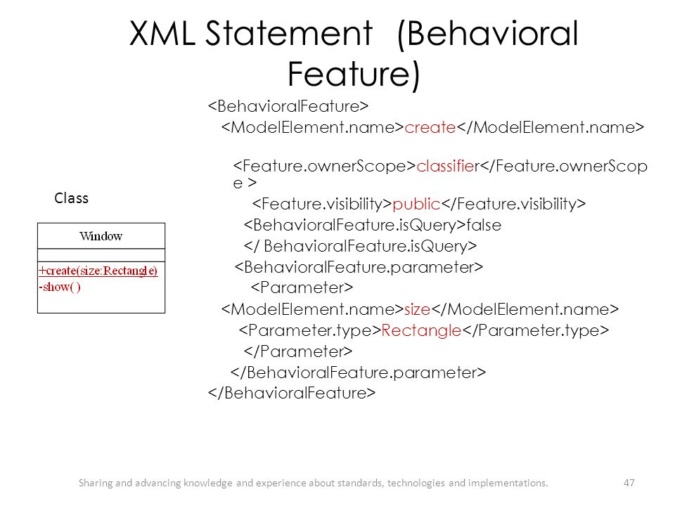 XML Statement (Behavioral Feature)