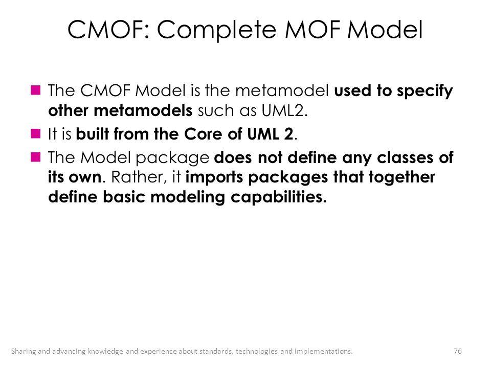 CMOF: Complete MOF Model