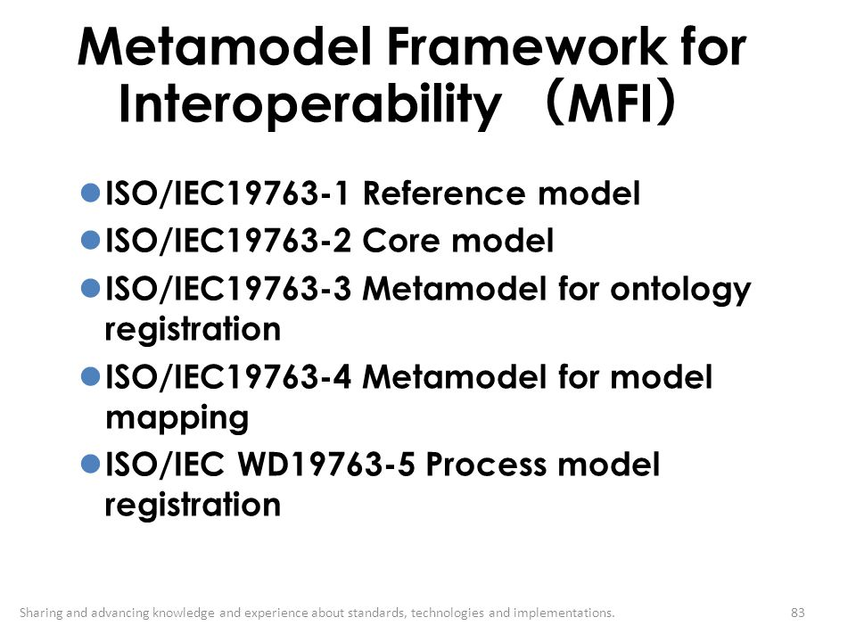 Metamodel Framework for Interoperability (MFI)