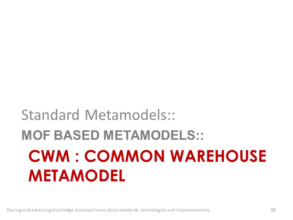 CWM : COMMON WAREHOUSE METAMODEL
