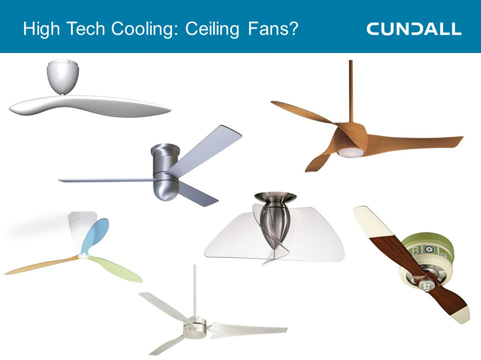 High Tech Cooling: Ceiling Fans