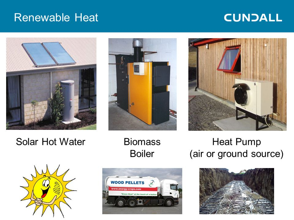Renewable Heat Solar Hot Water Biomass Boiler Heat Pump