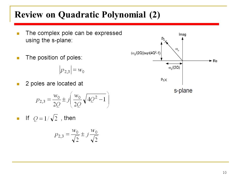 Review on Quadratic Polynomial (2)