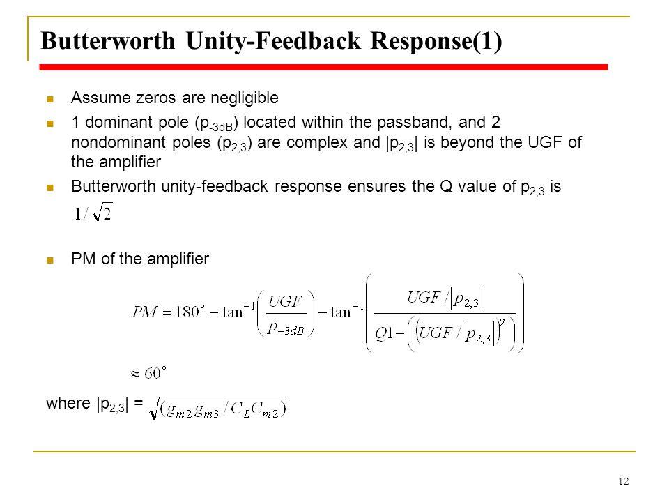 Butterworth Unity-Feedback Response(1)