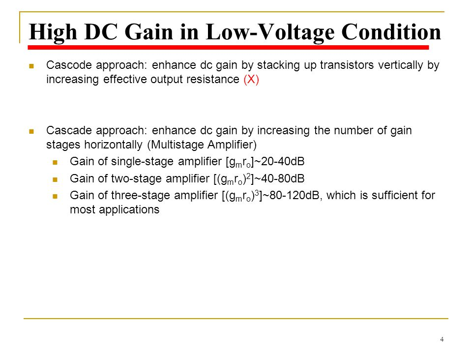 High DC Gain in Low-Voltage Condition