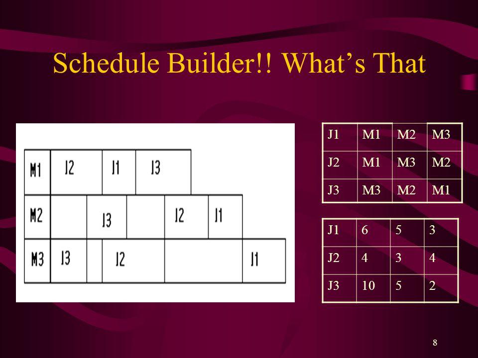Schedule Builder!! What's That