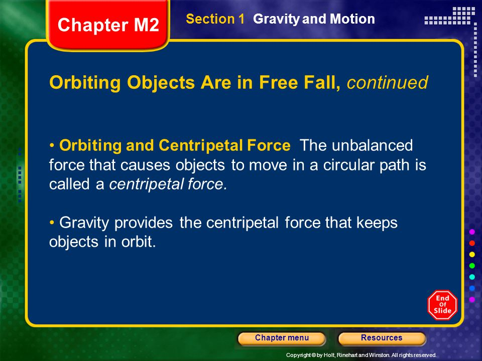 Orbiting Objects Are in Free Fall, continued