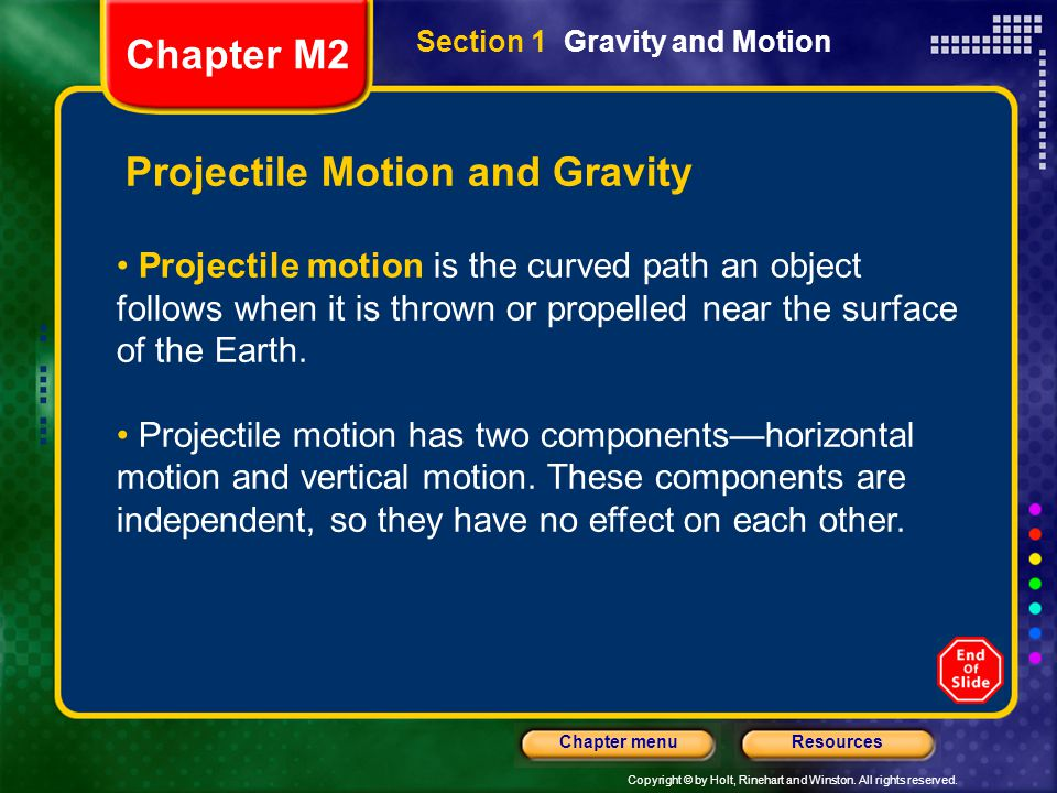 Projectile Motion and Gravity