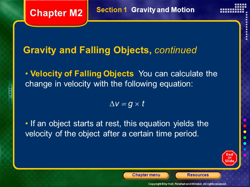 Gravity and Falling Objects, continued