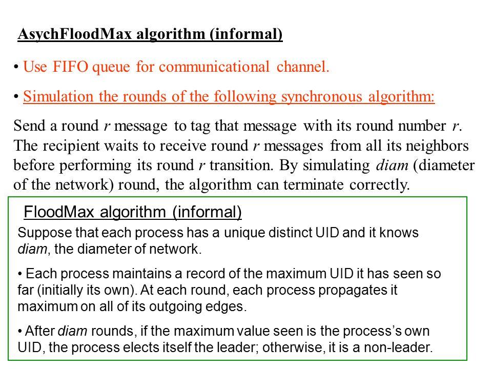 AsychFloodMax algorithm (informal)