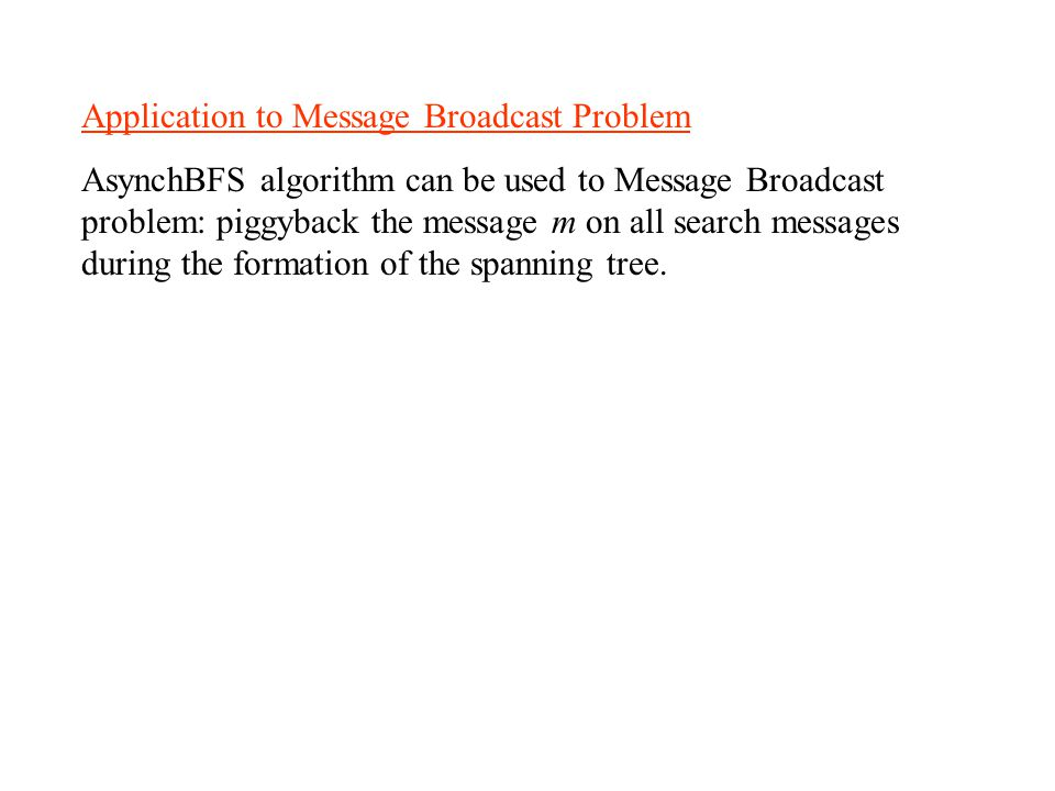 Application to Message Broadcast Problem