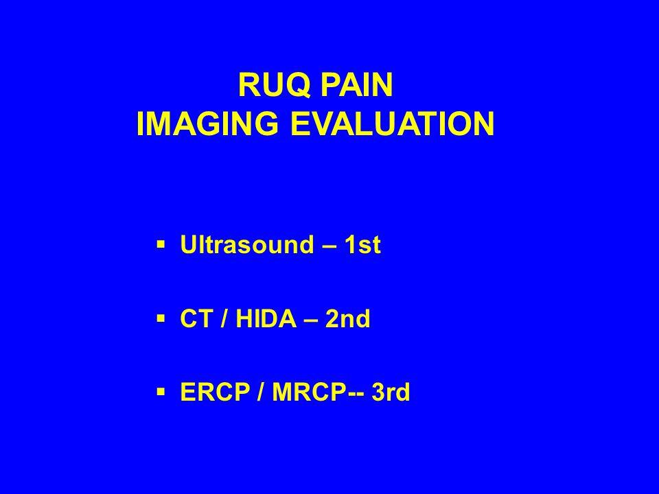 RUQ PAIN IMAGING EVALUATION