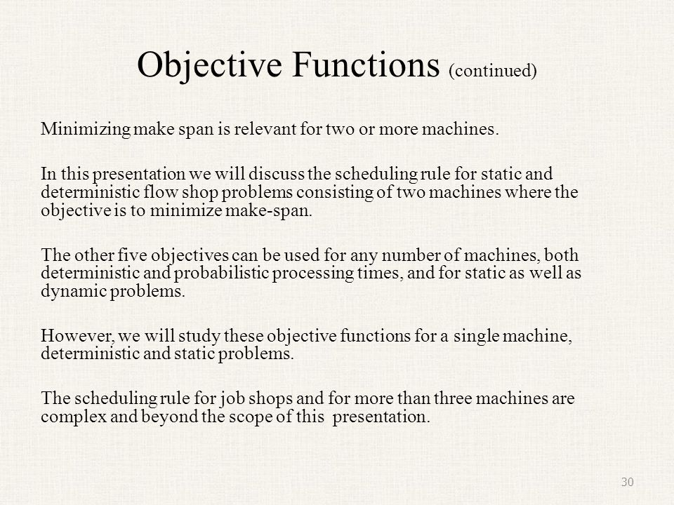 Objective Functions (continued)