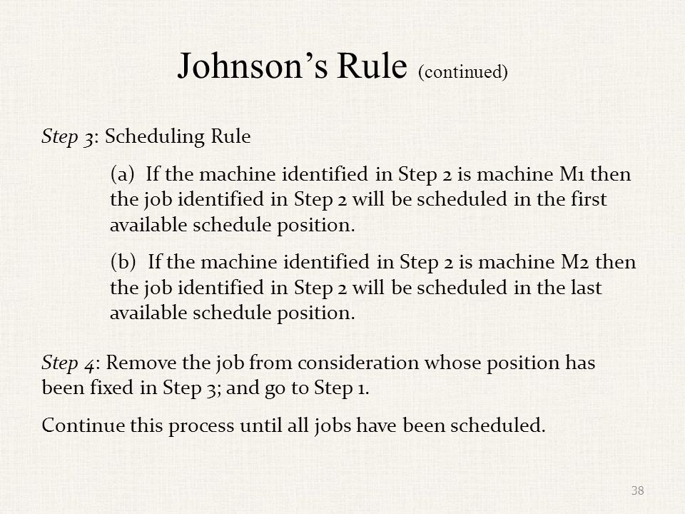 Johnson's Rule (continued)