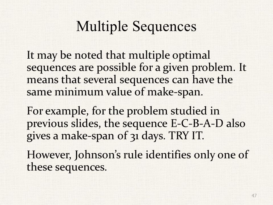 Multiple Sequences