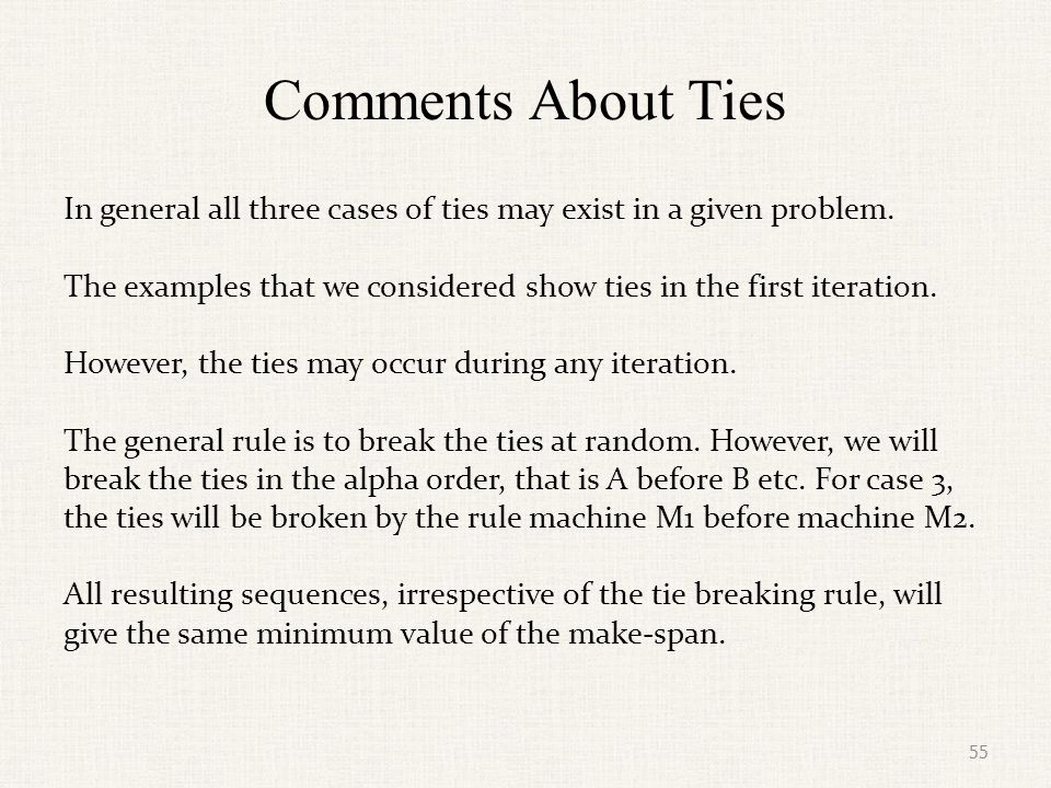 Comments About Ties