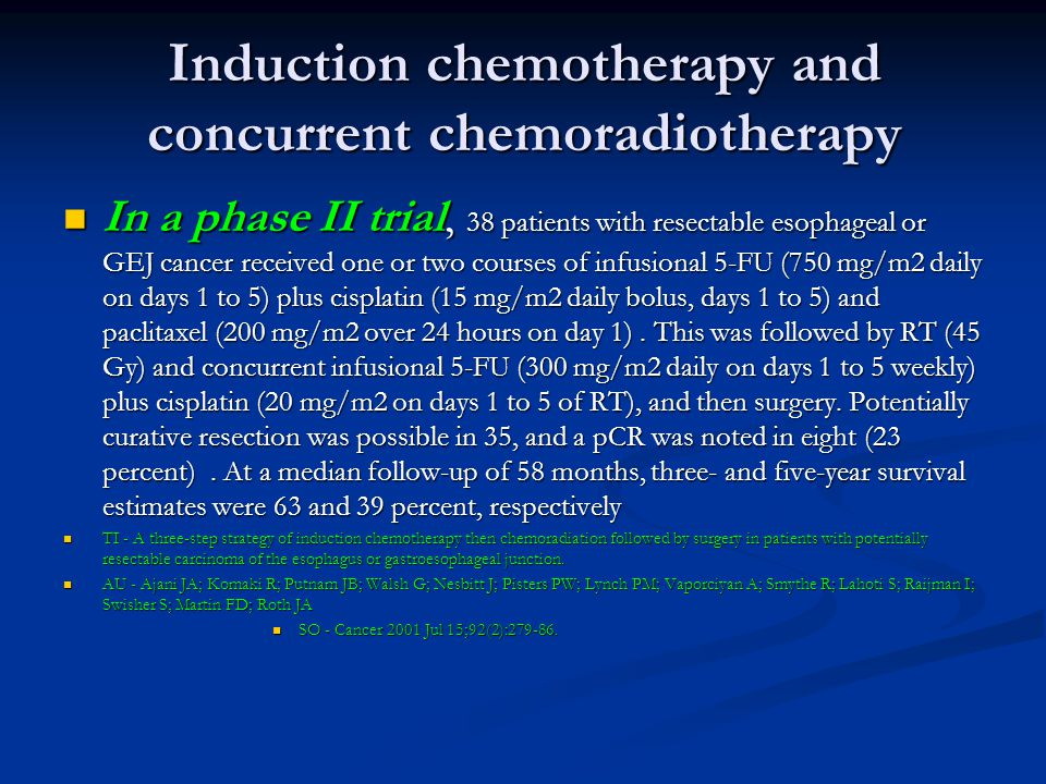 Induction chemotherapy and concurrent chemoradiotherapy