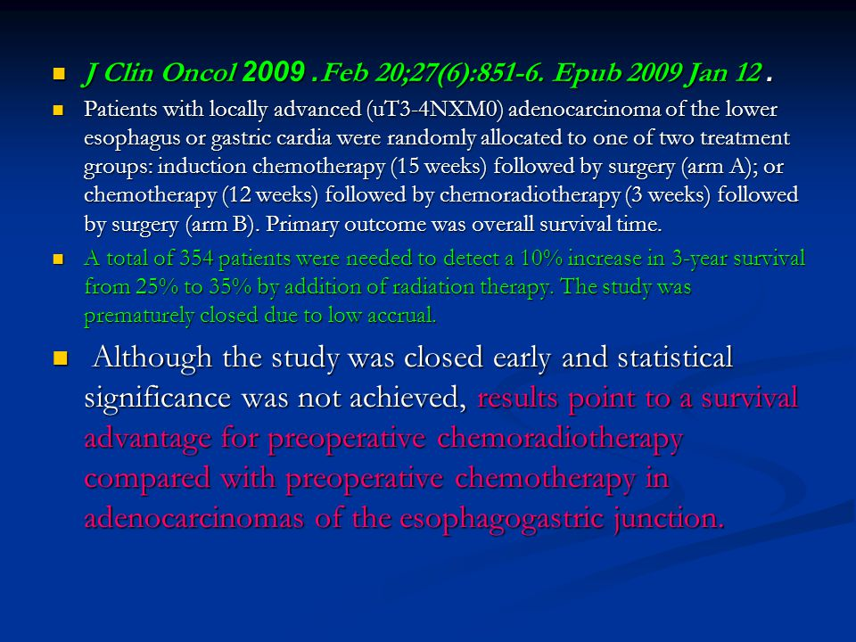 J Clin Oncol. 2009 Feb 20;27(6):851-6. Epub 2009 Jan 12.