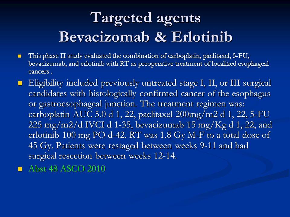 Targeted agents Bevacizomab & Erlotinib