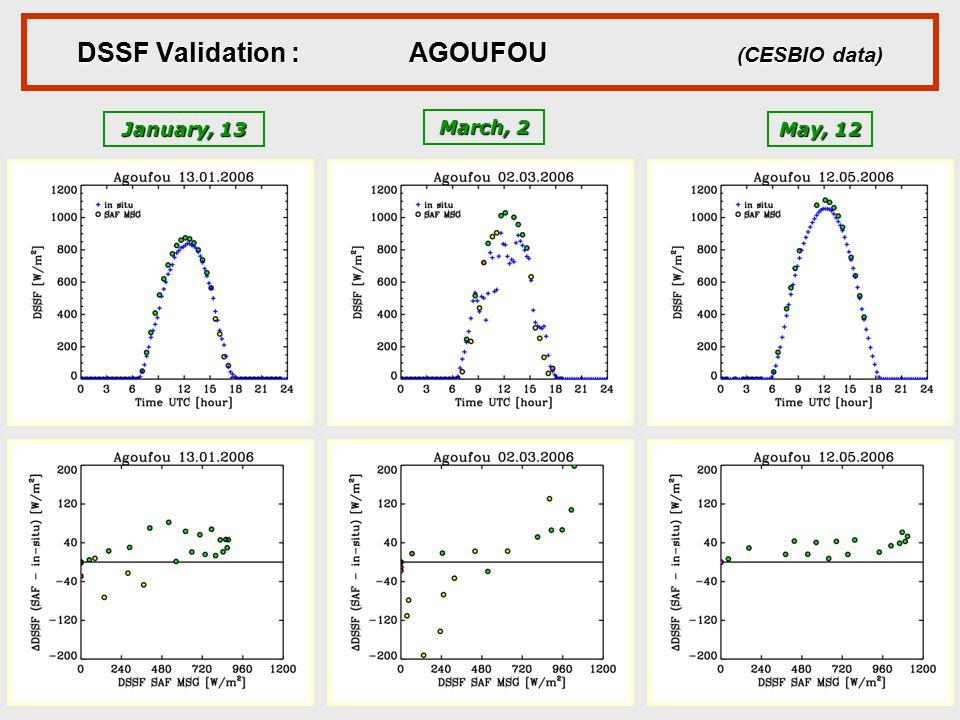 DSSF Validation : AGOUFOU (CESBIO data)