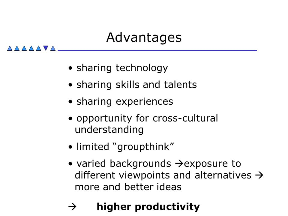 Advantages sharing technology sharing skills and talents