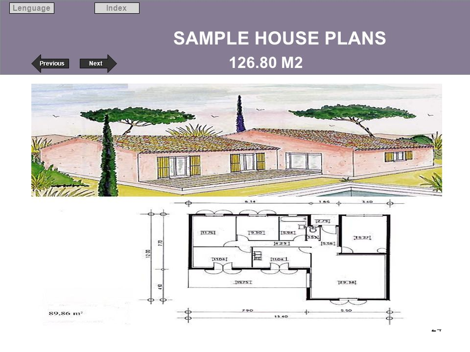SAMPLE HOUSE PLANS 126.80 M2