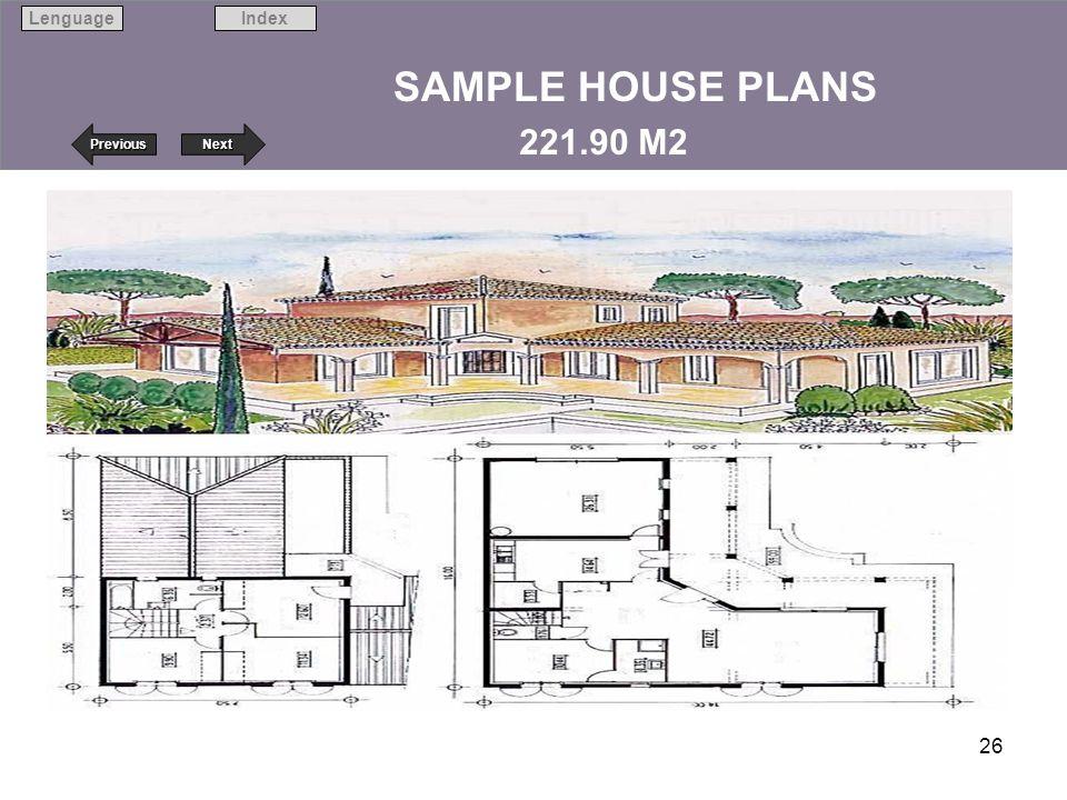 SAMPLE HOUSE PLANS 221.90 M2