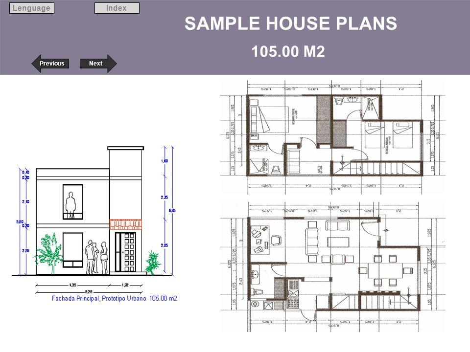 SAMPLE HOUSE PLANS 105.00 M2