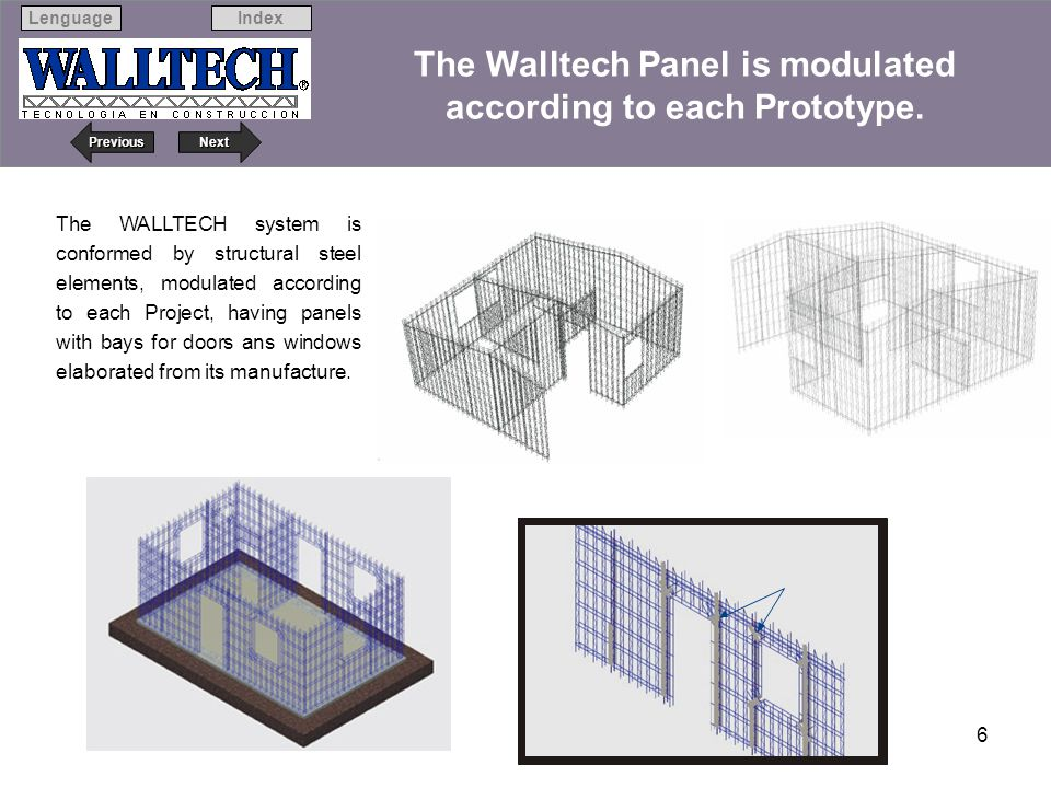 The Walltech Panel is modulated according to each Prototype.