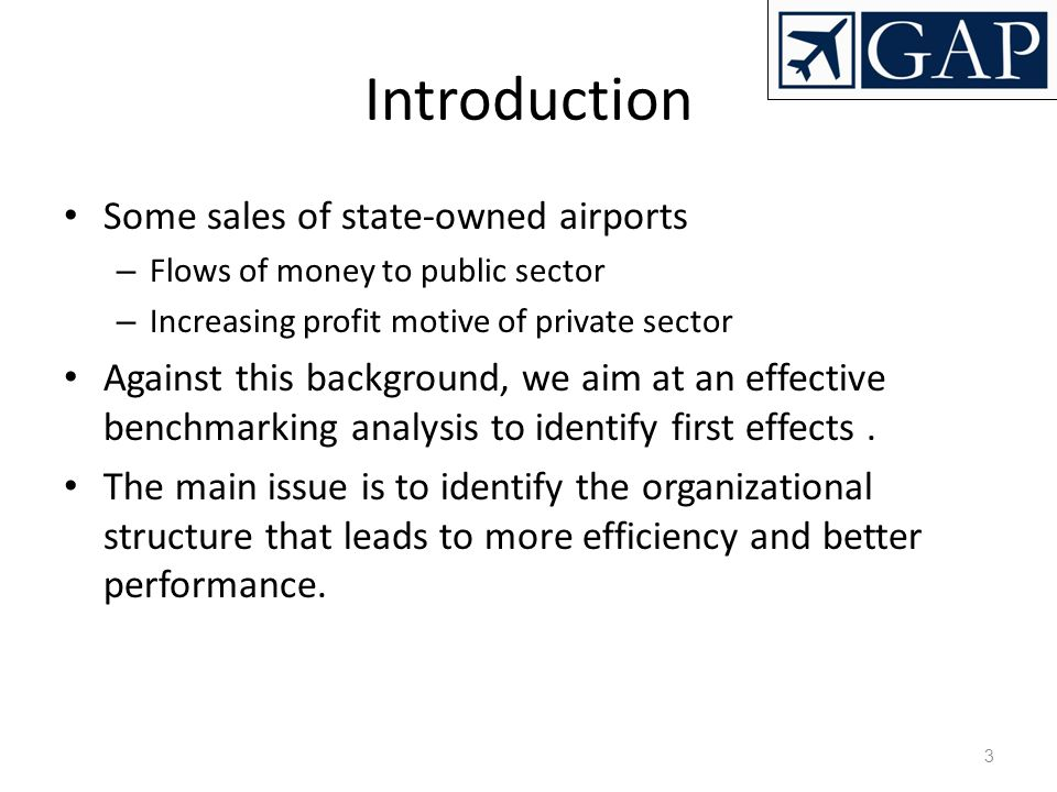 Introduction Some sales of state-owned airports