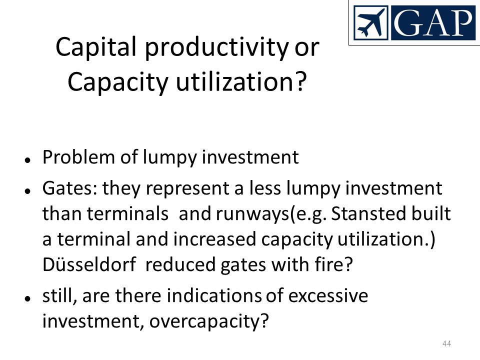 Capital productivity or Capacity utilization