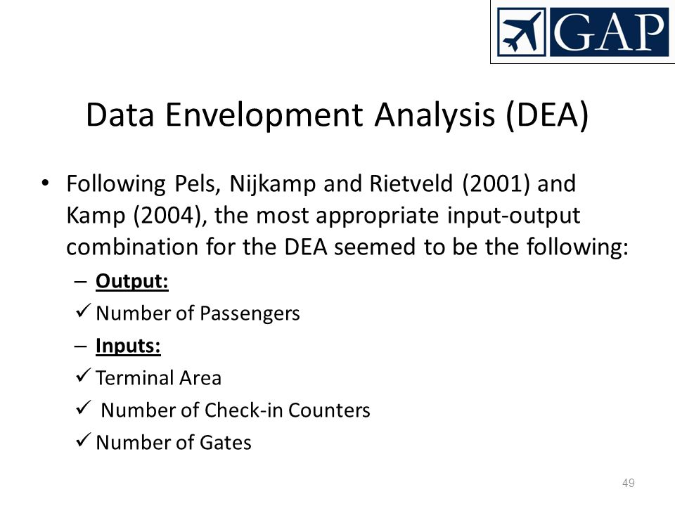 Data Envelopment Analysis (DEA)