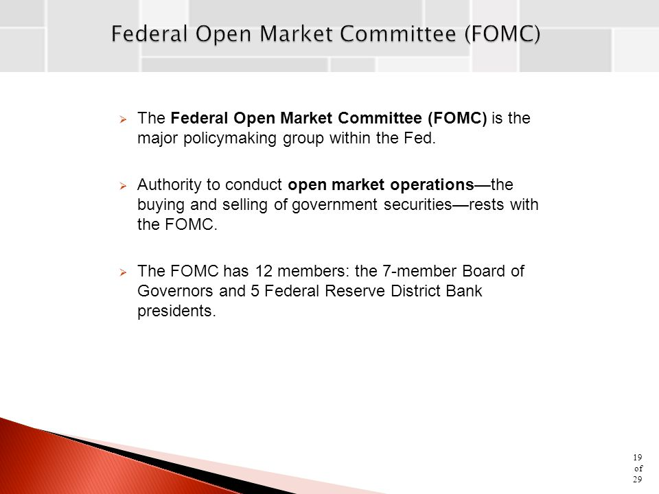 Federal Open Market Committee (FOMC)