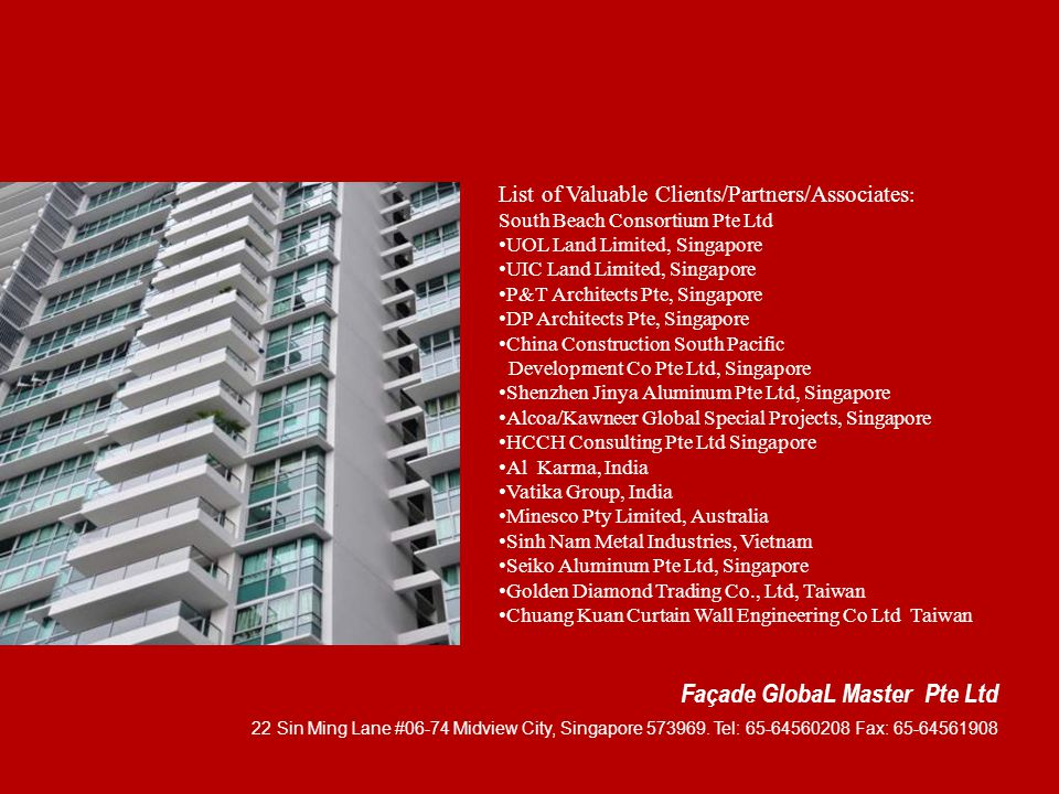 Façade GlobaL Master Pte Ltd