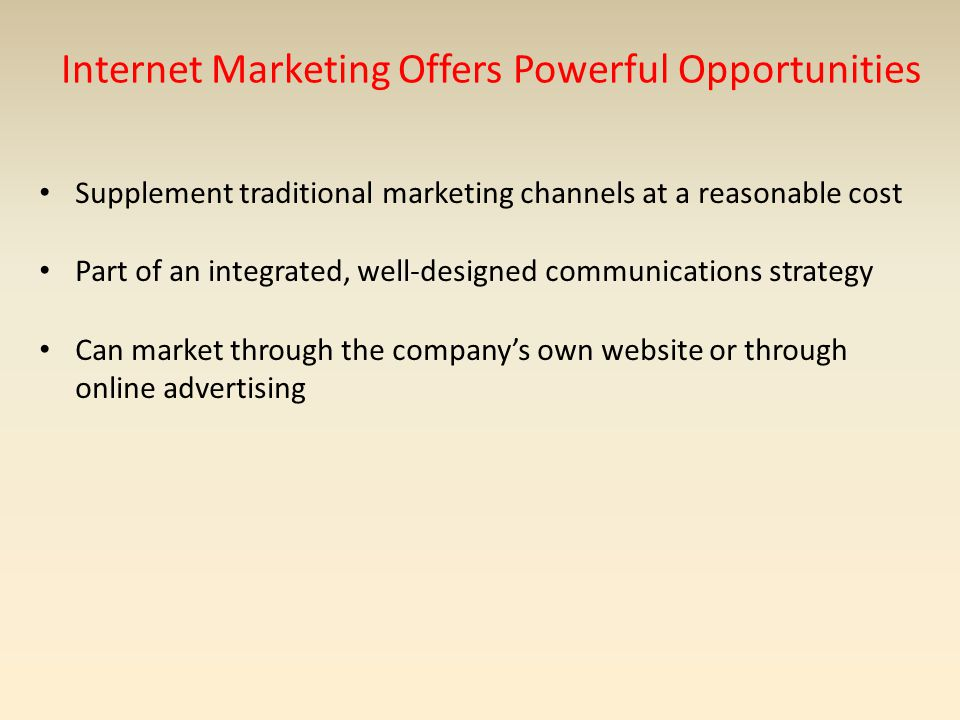 Internet Marketing Offers Powerful Opportunities