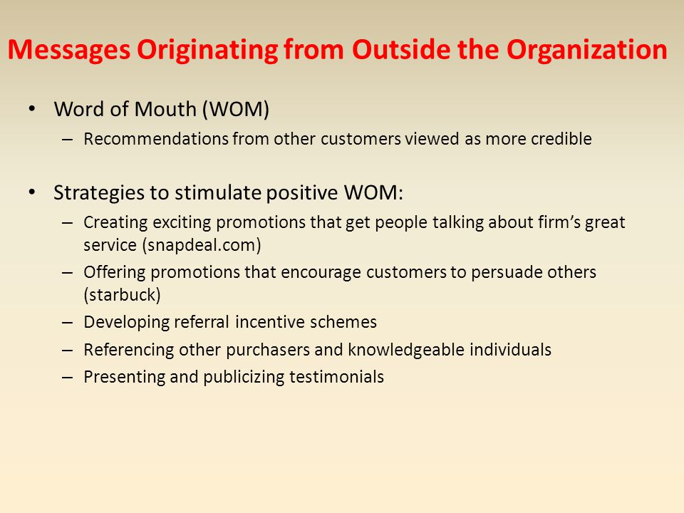 Messages Originating from Outside the Organization