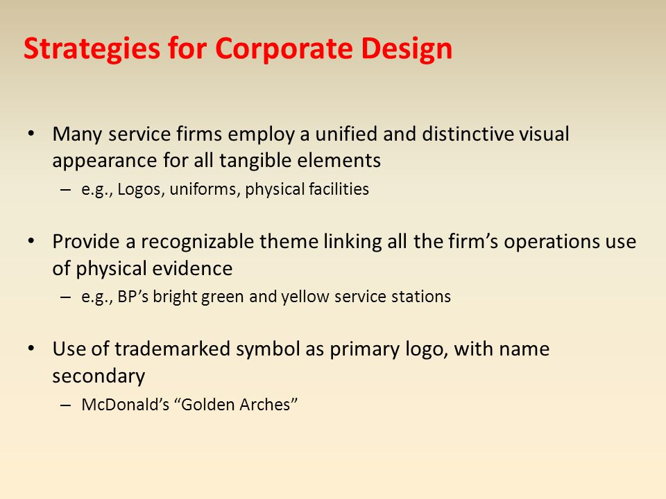 Strategies for Corporate Design