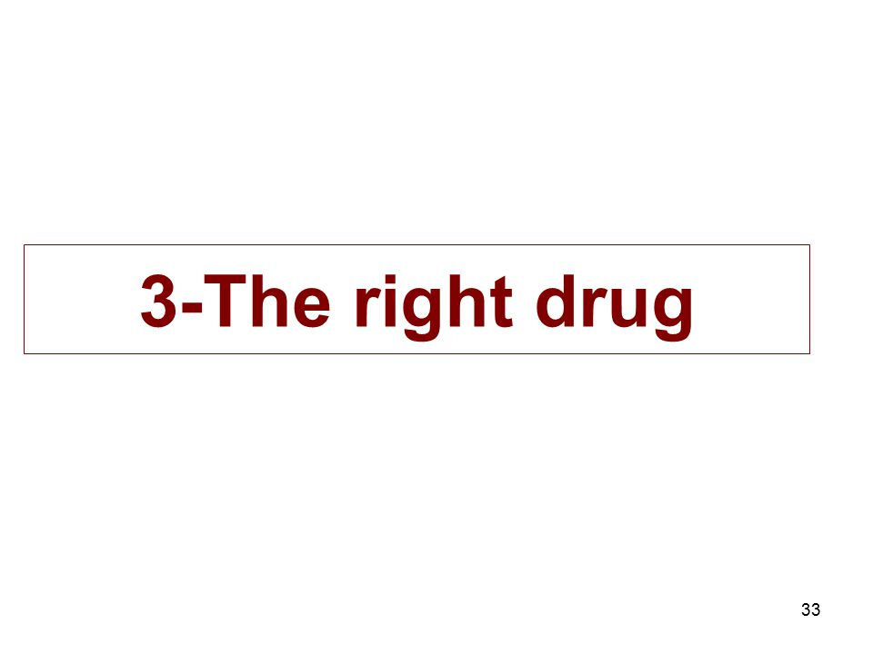 3-The right drug