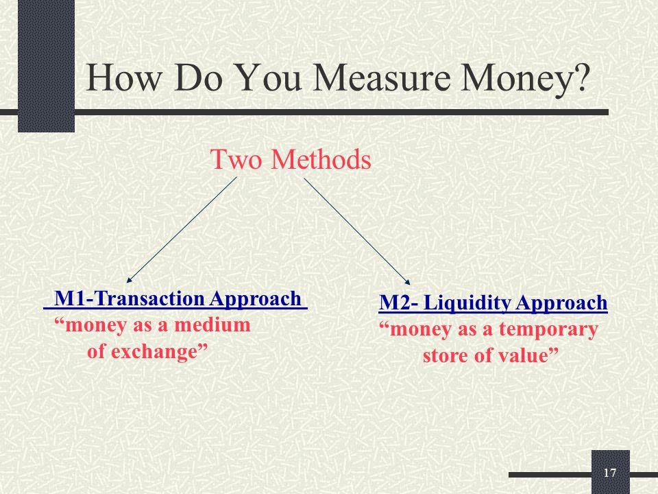 How Do You Measure Money