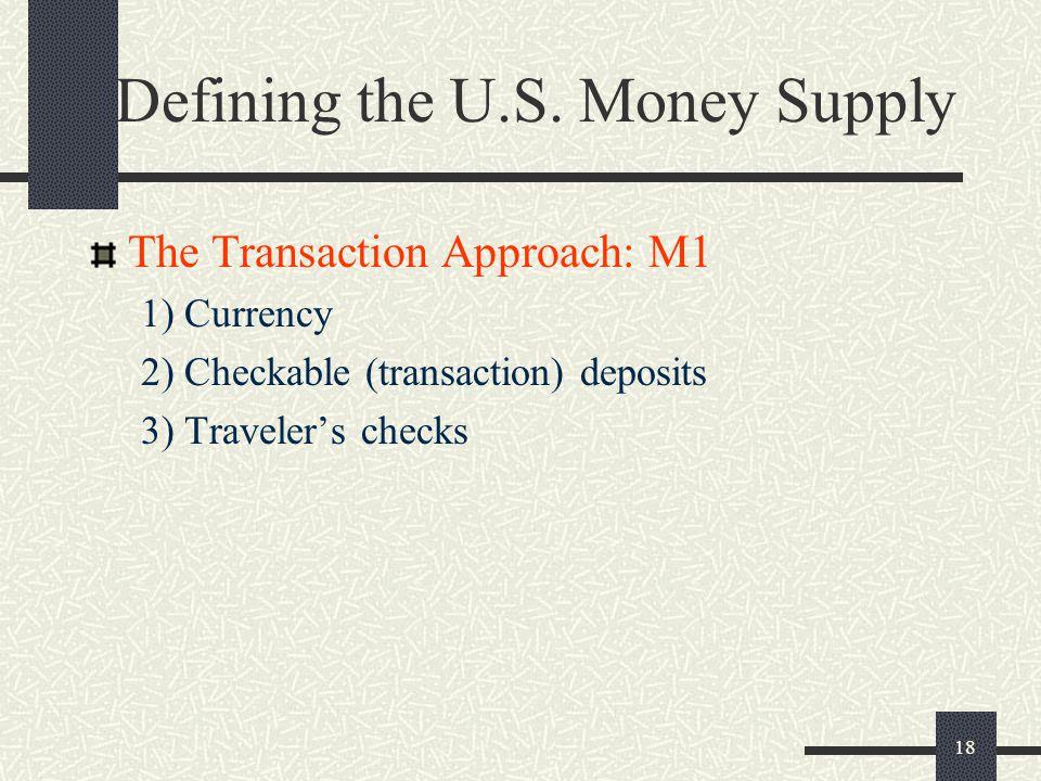 Defining the U.S. Money Supply
