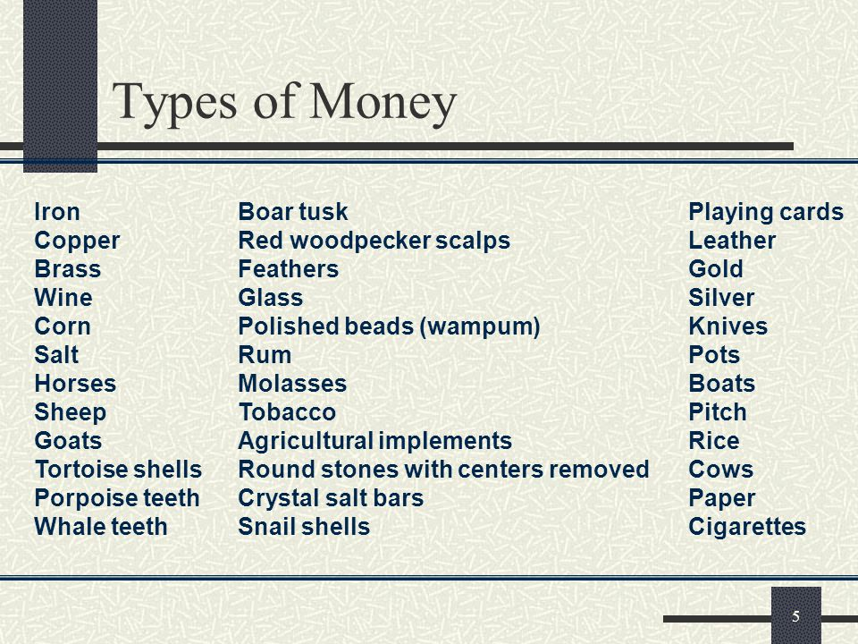 Types of Money Iron Boar tusk Playing cards