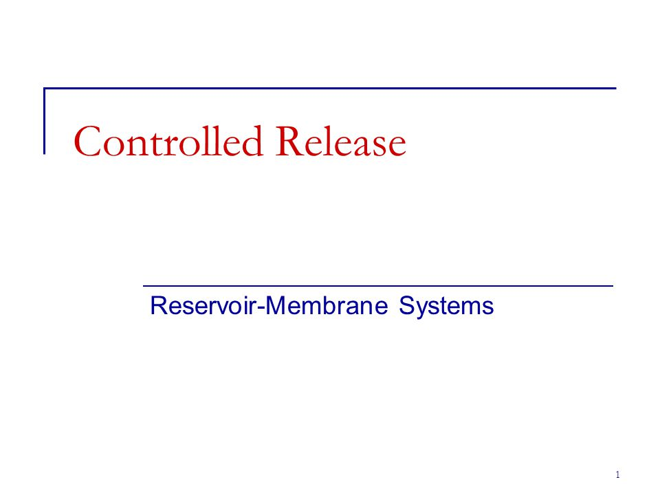 Reservoir-Membrane Systems