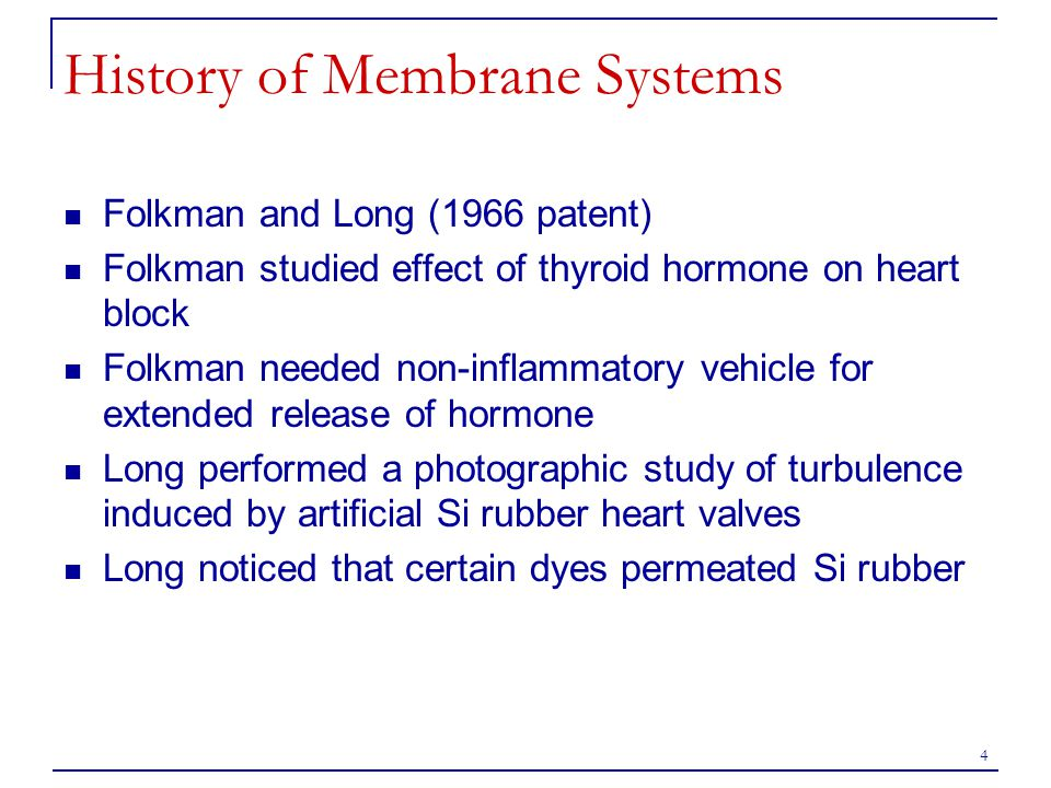 History of Membrane Systems