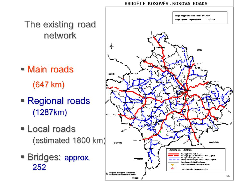 The existing road network