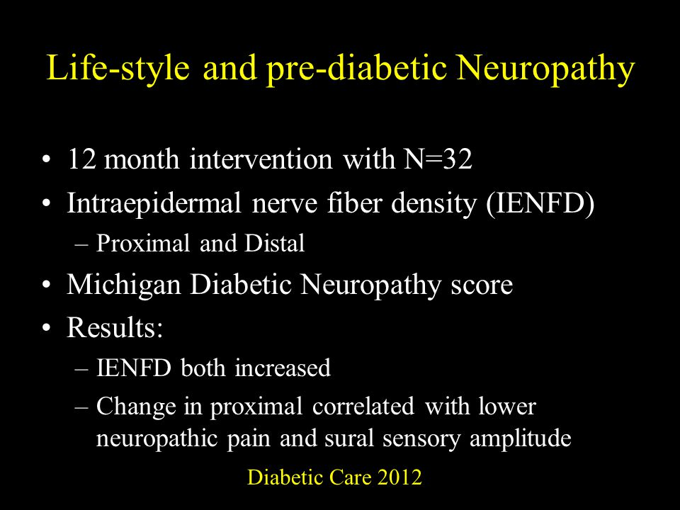 Life-style and pre-diabetic Neuropathy