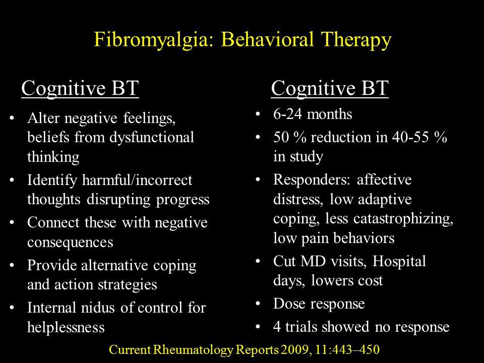 Fibromyalgia: Behavioral Therapy